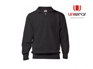 Uniwear-ZSBU-Zipneck-Band-Sweater__Donkergrijs