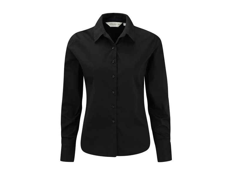 ec16e8695c8 Russell R-916F-0 Dames Classic Twill Shirt Lange Mouwen