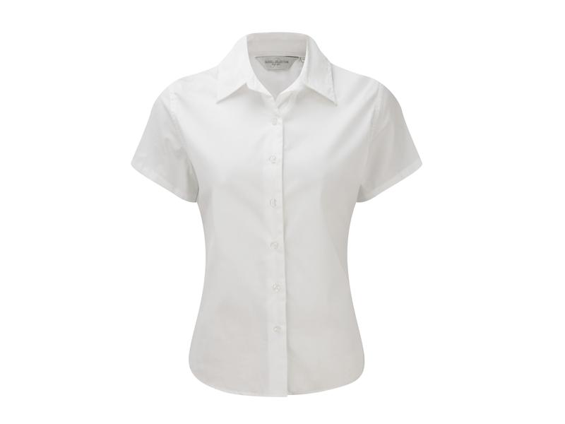 blouse wit dames korte mouw