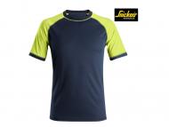 Snickers-2505-Neon-T-shirt_Donkerblauw_Neon Geel