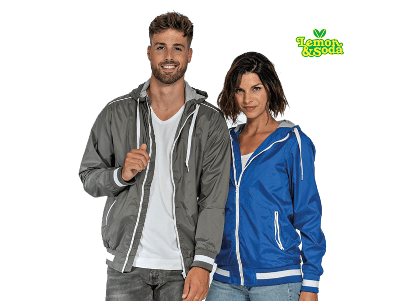 Lemon & Soda LEM 3620 Jacket Capuchon Nylon Dames en Heren