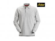 Snickers-2612-Rugbyshirt_gemeleerd_grijs_2800