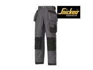 snickers-3214-Canvas-Broek_staalgrijs_zwart_5804