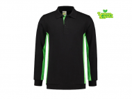 lemon-soda-LEM4700-Sweater-Polo_zwart_limegroen