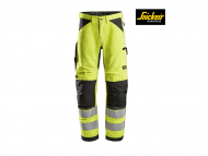 snickers-6332-LiteWork-High-Vis-Work-Werkbroek+ klasse2_high vis geel_zwart_6604