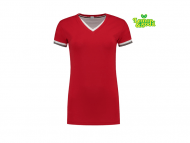 lemon-soda-LEM1261-T-shirt-double-v-cot-elast-for-her__rood-wit-parelgrijs