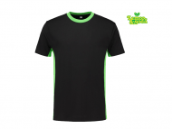 lemon&soda-LEM4500-Workwear-T-shirt_zwart_limegroen