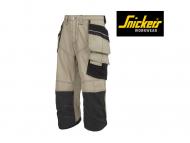 snickers-3923-Rip-Stop-Pirate-Broek-Met-Holsterzakken_2004_khaki_zwart