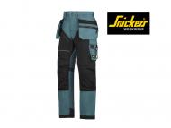 snickers-6202-Ruffwork-Werkbroek-met-Holsterzakken_petrol_black_5104