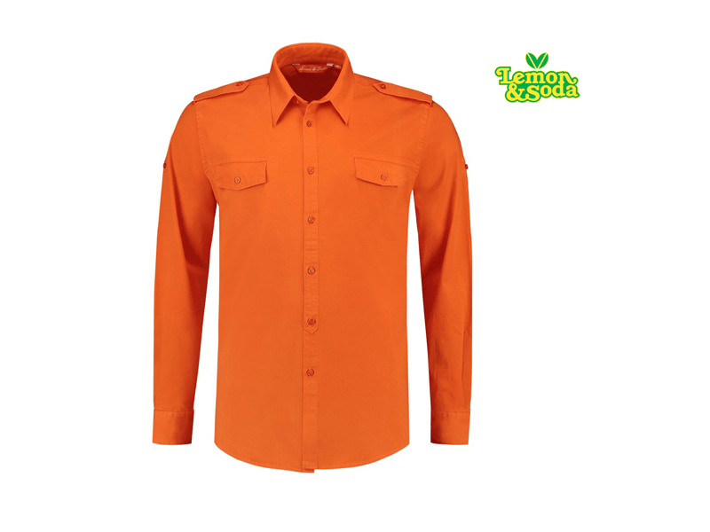 – Lem3915 Lemonamp; Shirt Lange Soda Heren Twill Mouw Voor nX8ON0wPk