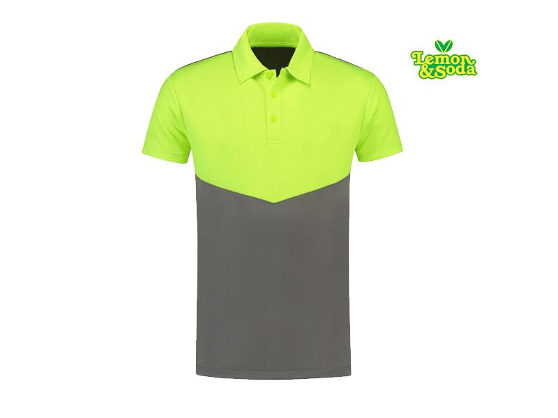 3923aba64def7b Lemon   Soda Poloshirt Contrast Sport Korte Mouw Voor Heren – LEM6300