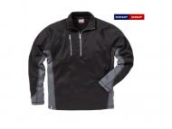 fristads-kansas-7452-PFKN -Sweater-Halve -Rits-zwart-grijs_996