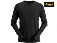 Snickers-2427-Wollen T-shirt met Lange Mouwen_Black-0400