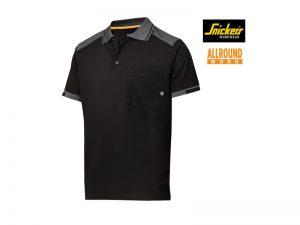 snickers-2701-AllroundWork-37.5-Technologie-Verstevigd-Polo-Shirt-zwart_staalgrijs_0458