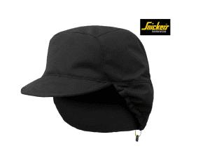 snickers-9008-AllroundWork_Shell_Cap_zwart_0400