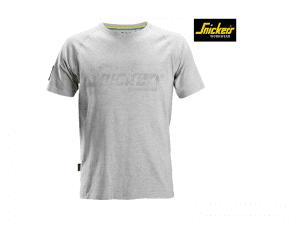 snickers-2580-Logo-T-shirt_gemeleerd grijs_2800