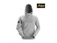 snickers-2881-Logo-Hoodie_gemeleerd grijs_2800