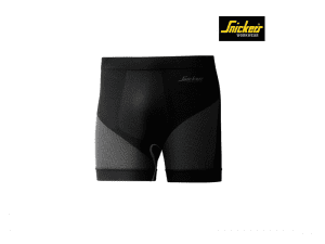 Snickers-9429-LiteWork-Seamless-37.5-Shorts_zwart_donkergrijs_0418