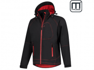 Macseis-MS10003-Outlook-Two-Tone-Protech-8000-5000-Stretch-Soft-Shell-Jacket_Mac-Black-Flash-Red-Front